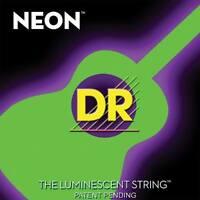 Dr Nga-11 Neon Green Acoustic Guitar Strings Med-lite Gauges 11-50