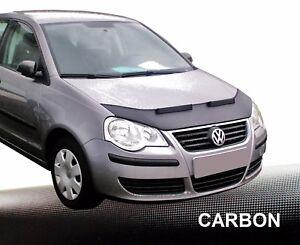 Haubenbra-VW-Polo-9N3-Car-Bra-Steinschlagschutz-Tuning-amp-Styling-CARBON