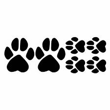 6 x Pfote Aufkleber Sticker paw Hund Katze tier