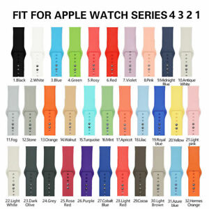 US-Replacement-Silicone-Sport-Band-Strap-For-Apple-Watch-Series-4-3-2-1-40-44mm
