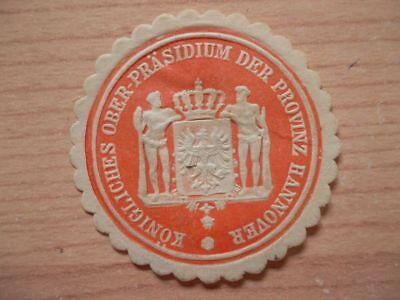 (11714) Siegelmarke - Königliches Ober-präsidium Der Provinz Hannover