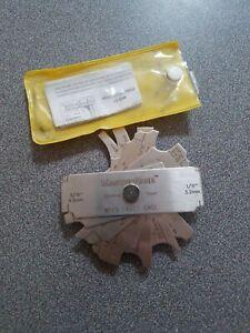 MasterGage 7 Piece Weld Fillet Gage Inch//Metric MG-11 Fillet Weld Gage