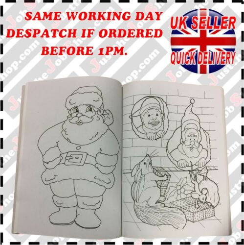COLOURING BOOKS CRAFTS CHRISTMAS EVE BOX FILLERS COLOURING CRAYONS