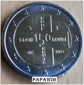 "2 euro België/Belgique 2014 ""150 j. rode kruis croix rouge"". Nieuw, losse munt."