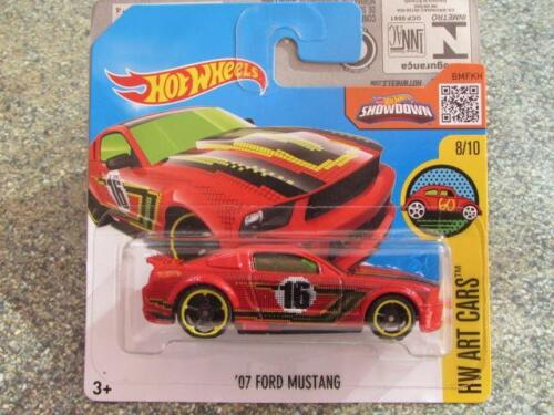 Hot Wheels 2016 #198/250 2007 Ford Mustang rot HW Kunst Autos L Spielzeugautos