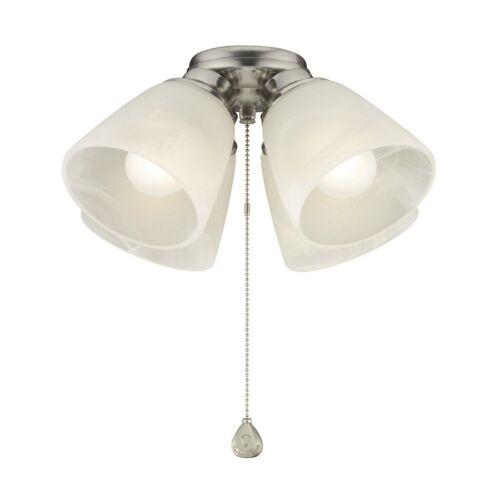 Harbor Breeze 4-Light Brushed Nickel Incandescent Ceiling Fan Light Kit Elegant