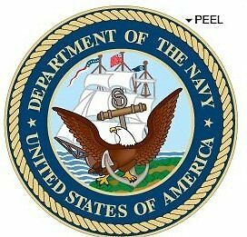 United States US Department of The Navy Seal Insignia  Window Bumper Laptop 4/""