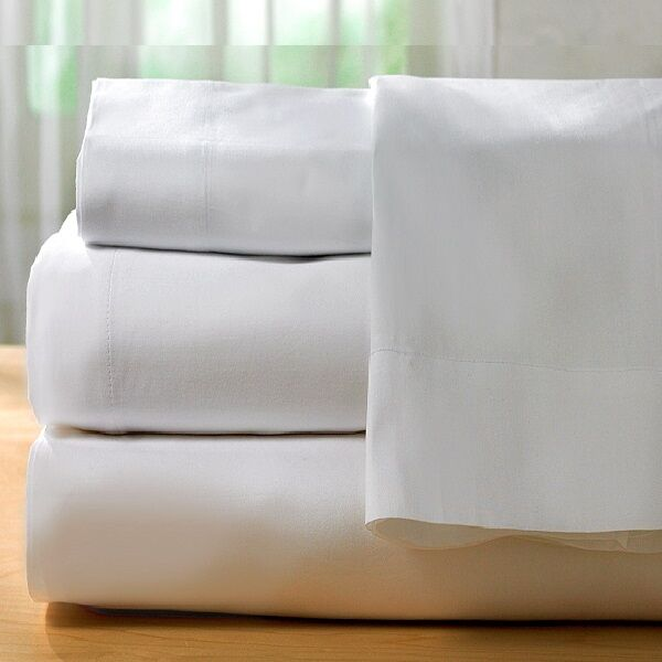 2 new hotel king size flat sheet premium bed sheet 108  x 115  t200 cvc