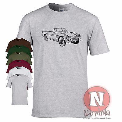 MGB Roadster Mk1 classic British sports car motoring t-shirt retro track day