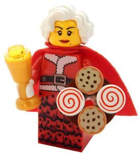 NEW LEGO MRS. CLAUS MINIFIG figure minifigure christmas santa's workshop cookies