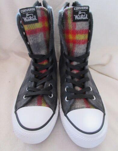 New Meac5d28c1f1511d513db14f24eb56870 5 donna Stivali Chuck 6 Woolrich in lana Converse Taylor alti scozzesi grigi da 34ARjL5q