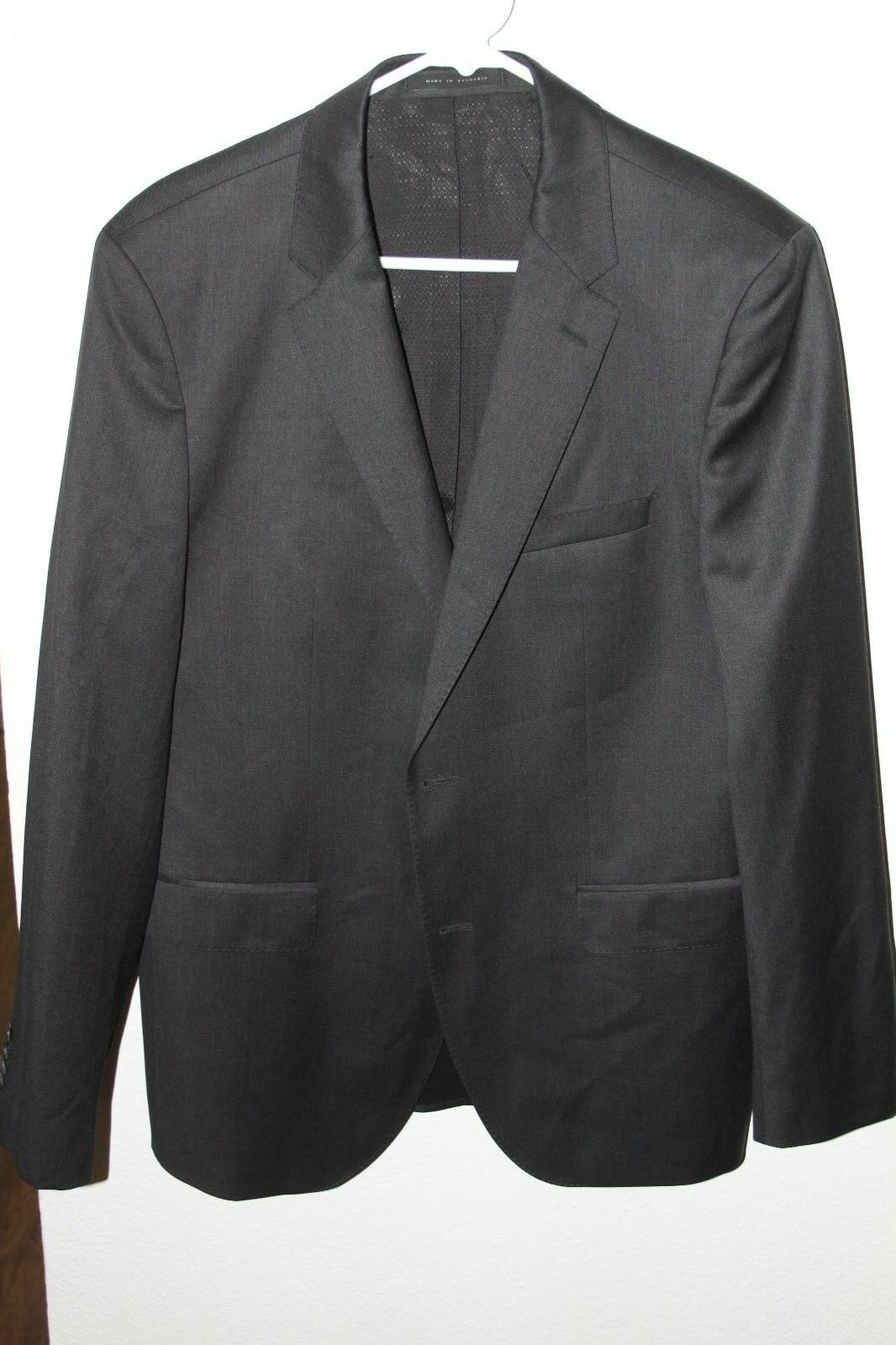 HUGO BOSS Johnston Lenon Charcoal Sport Coat Blazer 40 R NWOT