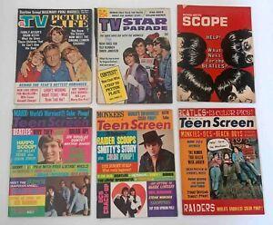 Teen Screen Scholastic Scope TV Star Parade 1960s The Beatles Magazine Lot