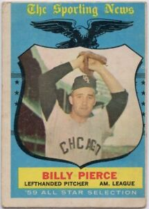 1959-Topps-572-Billy-Pierce-VG-VGEX-High-Chicago-White-Sox-FREE-SHIPPING