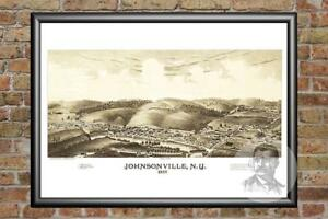 Old-Map-of-Johnsonville-NY-from-1887-Vintage-New-York-Art-Historic-Decor