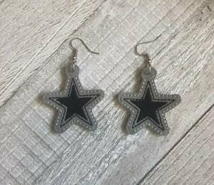 Dallas-Cowboys-Star-Faux-Leather-Earrings