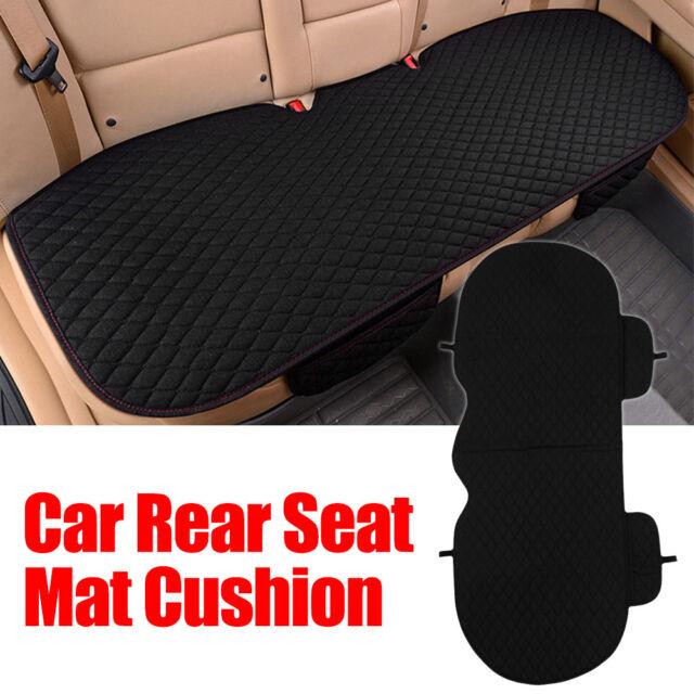 Siège voiture arrière universel noir housse protection en lin 3D coussin chaise