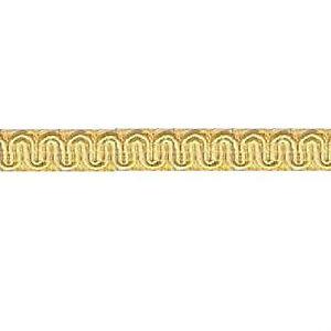 "36 Yds Champagne Light Gold Scroll Gimp 1/2"" Conso D01 Trim Upholstery Soutache"