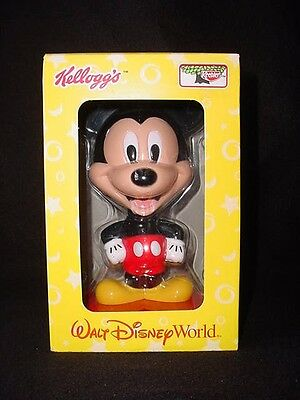 New 2002 Kelloggs Walt Disney World Resort Mickey Mouse Bobblehead Nodder Sealed