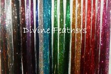 "10 tinsel packs BLING Hair Extension Tinsel Extensions 40"" Tinsel Curl With Heat"