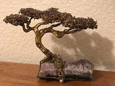 Richard Bell Smith Amethyst Bonsai Tree Sculpture Brass Amethyst Quartz Ebay
