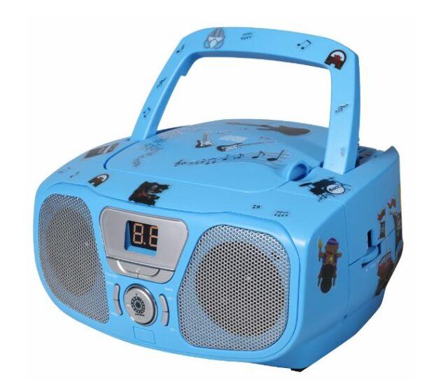 BigBen CD Player Für Kinder Zimmer,Radio,Musik Anlage,Blau,Kinderzimmer,