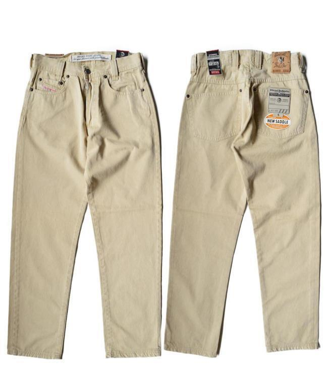 NWT    DIESEL BASIC SADDLE JEANS STRENGTH AND RESISTANT FABRIC - TAN SIZE 31