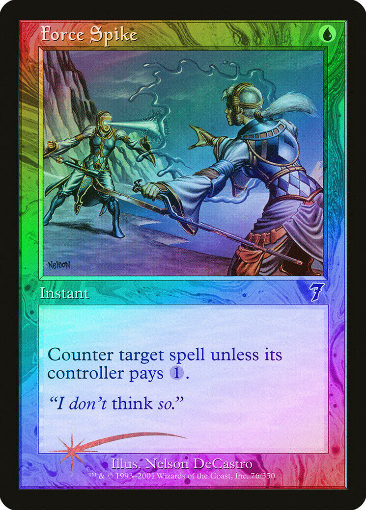 Force Spike FOIL 7th Edition NM-M bluee Common MAGIC THE GATHERING CARD ABUGames