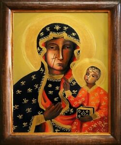 Religion-Mary-Handmade-Oil-Painting-Picture-Oil-Frame-Pictures-G04638