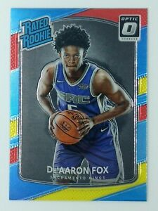 2017-18 Panini Donruss Optic Rated Rookie Red and Yellow De'Aaron Fox RC #196