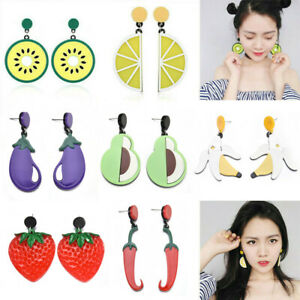 Women-Fruit-Lemon-Cherry-Vegetables-Ear-Stud-Pendant-Dangle-Earrings-Jewelry