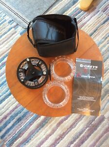 New-Greys-GTS-500-7-8-9-Cassette-Fly-Reel-Two-Spare-Spools-And-Neoprene-Case
