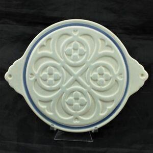 Pfaltzgraff Yorktowne Round Celtic Knots & Hearts Trivet w Handles ...