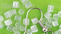 24 Silicone Rubber Earring Back Stoppers For Ear Wires & Posts Plus 2 Free Beads