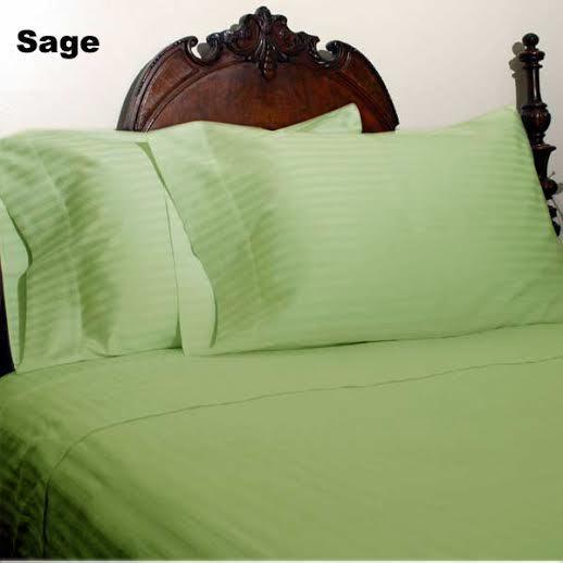 All Bedding Sets Item Choose Größe & Item Sage Stripe 1000 TC Pure Egypt Cotton