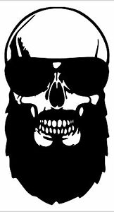 Bearded Skull stickers
