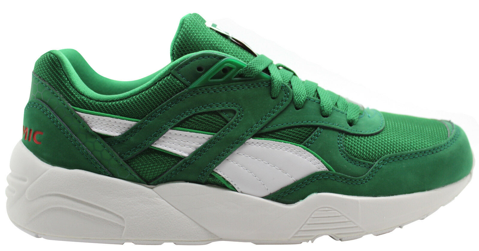 Puma Trinomic R698 X Green Mens Trainers Lace Up Casual Running 358489 01 U90
