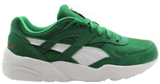 Puma Trinomic R698 X Green Mens Trainers Lace Up Casual Running 358489 01  B33E