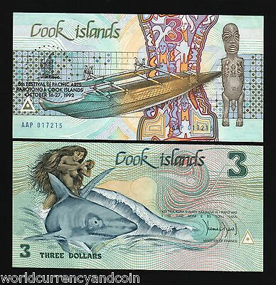 2 digits UNC Banknote Cook Islands 10 Dollars p-4 1987 low serial numbers