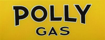 POLLY YELLOW GAS PUMP AD GLASS BENNETT TOKHEIM WAYNE