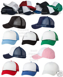 c74d3a7ed4894 Image is loading Valucap-Foam-Trucker-Cap-VC700-Structured-Mesh-Baseball-