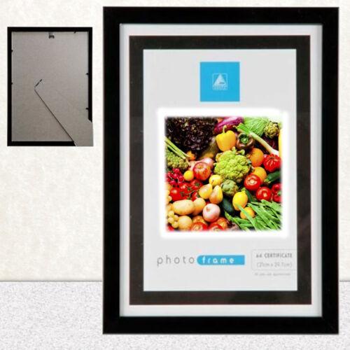 A4 Cadre photo certificat mur et bureau Montable Noir Pas d/'argent!