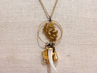 Usa Made Wendy Mink York 18k Gold Plated Silver Charm Pendant Necklace