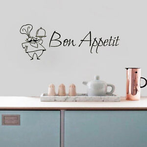 Bon Appetit Wall Sticker French A Chef Quote Wall Decals