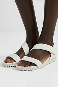 PEDRO GARCIA Jedda Leather Asymmetrical Sandals Slip On Size 8 White NWOB