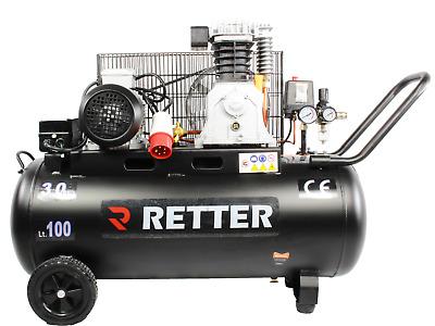 retter rt4100 druckluft kompressor 100l luftkompressor 3ps ebay. Black Bedroom Furniture Sets. Home Design Ideas