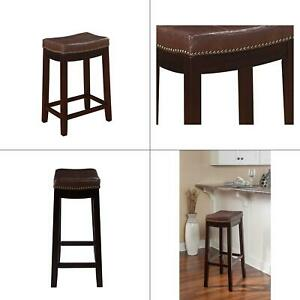 Cool Details About Claridge 26 In Dark Brown Cushioned Counter Stool Linon Patches Bar Decor Id Andrewgaddart Wooden Chair Designs For Living Room Andrewgaddartcom