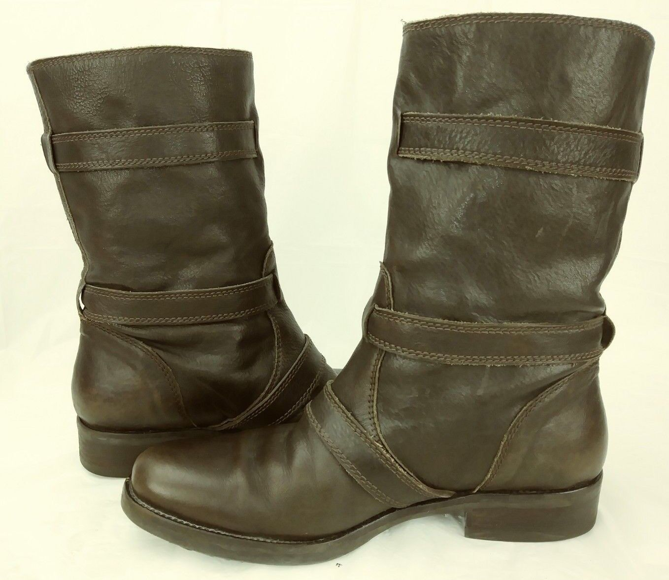 J. Crew Miller motorcycle short motorcycle Miller wos Stiefel US 8 Braun Leder Casual mid-calf 814 cfb184