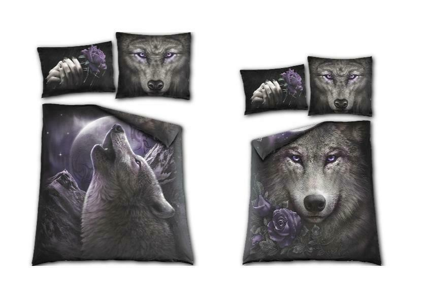 Spiral Direct - Wolf Soul Doubled sided duvet set - Größe Double . Wolf   Moon