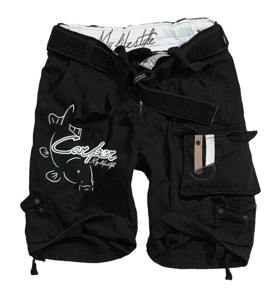 calienteSPOT DESIGN Short autoper, nero, Pantaloncini, Per pescatori di autope